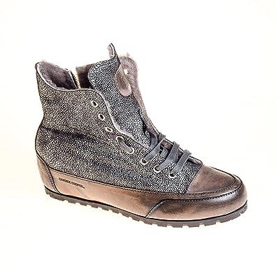 306392133d76e9 Candice Cooper Damen Sneaker High Top Leder Grau Silber