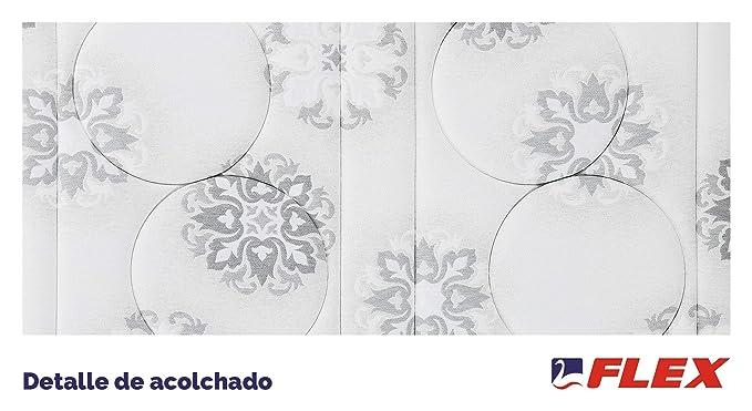 FLEX Colchón muelles continuos Palace Visco Firmeza Media, 135 x 190 cm: Amazon.es: Hogar