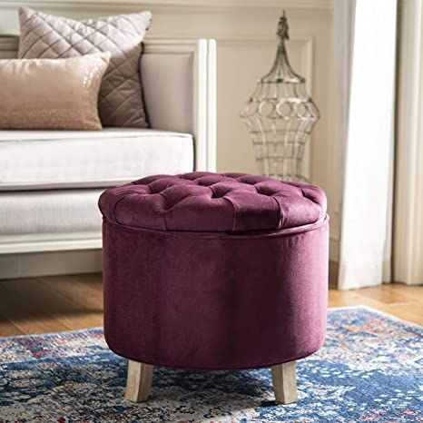 Wondrous Safavieh Hudson Collection Amelia Tufted Storage Ottoman Bordeaux Gmtry Best Dining Table And Chair Ideas Images Gmtryco
