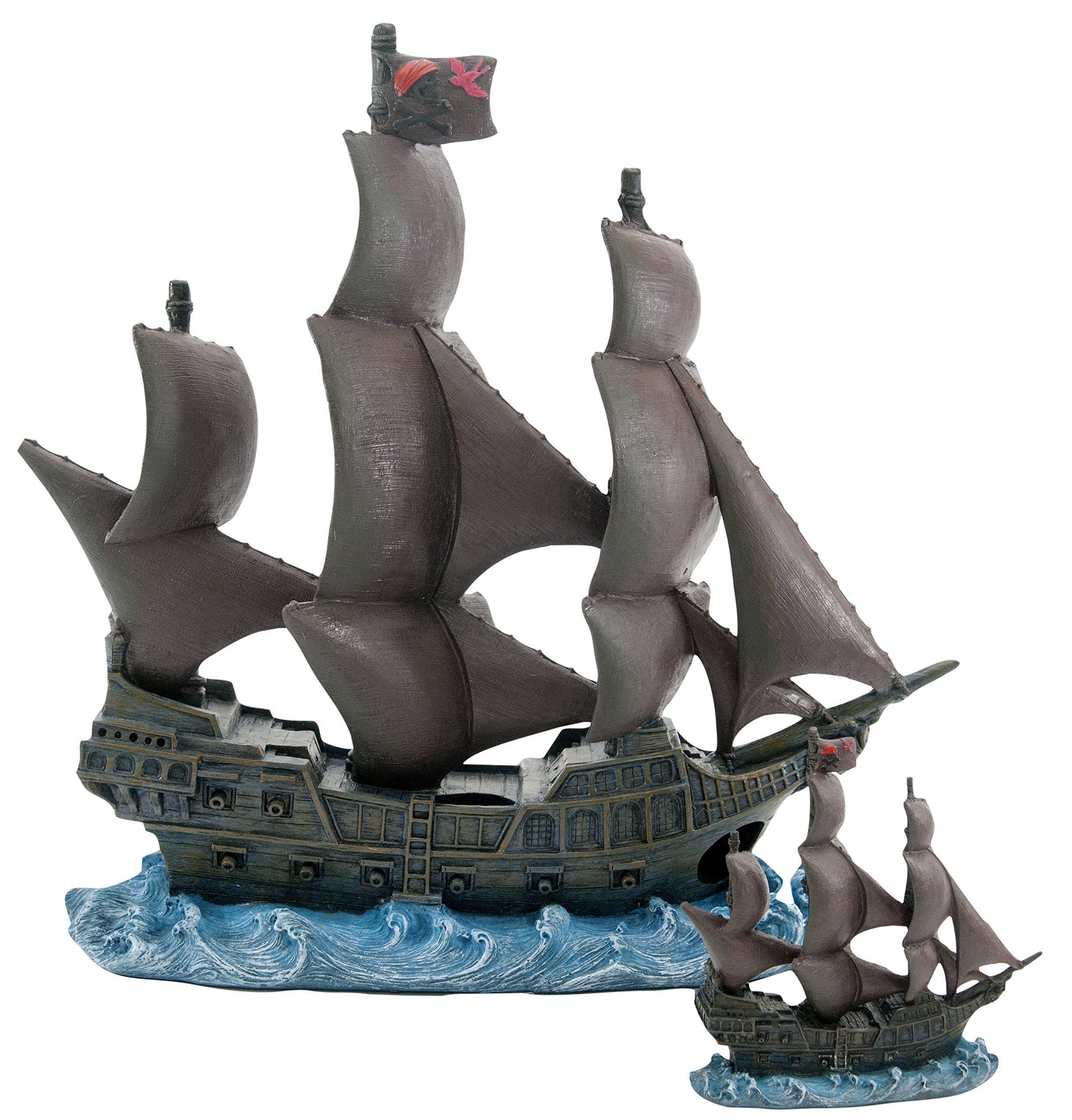 Officially Licensed Disney Aquarium Ornaments from Pirates of The Caribbean (11.75'' Black Pearl) by Penn Plax