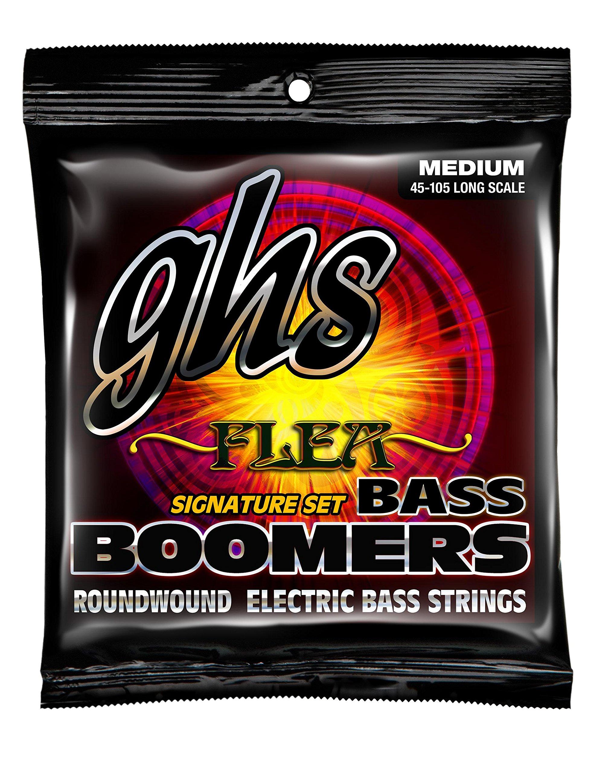GHS Strings M3045F Nickel Plated Bass Guitar Strings, Medium