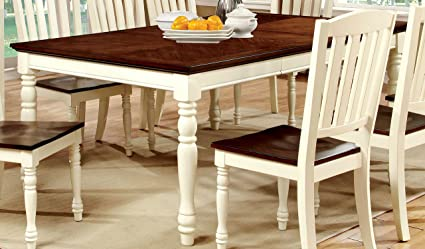 Amazon.com - Furniture of America Pauline Cottage Style Dining Table ...