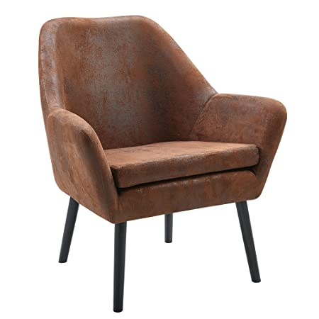 Versanora VNF-00033AF Divano Stylish Industrial Modern Vintage Lounge Arm Chair, Aged Fabric,