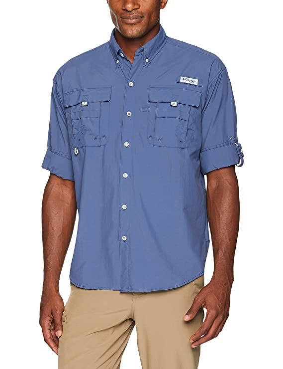 Columbia Men's PFG Bahama II Long Sleeve Shirt , Dark Mountain, Large best gifts for grandpas