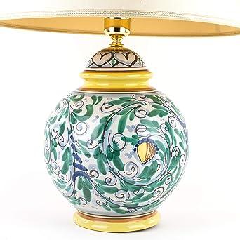 Lampadario Ceramica Di Caltagirone.Lume Lampada In Ceramica Di Caltagirone Decorato A Mano Lampada