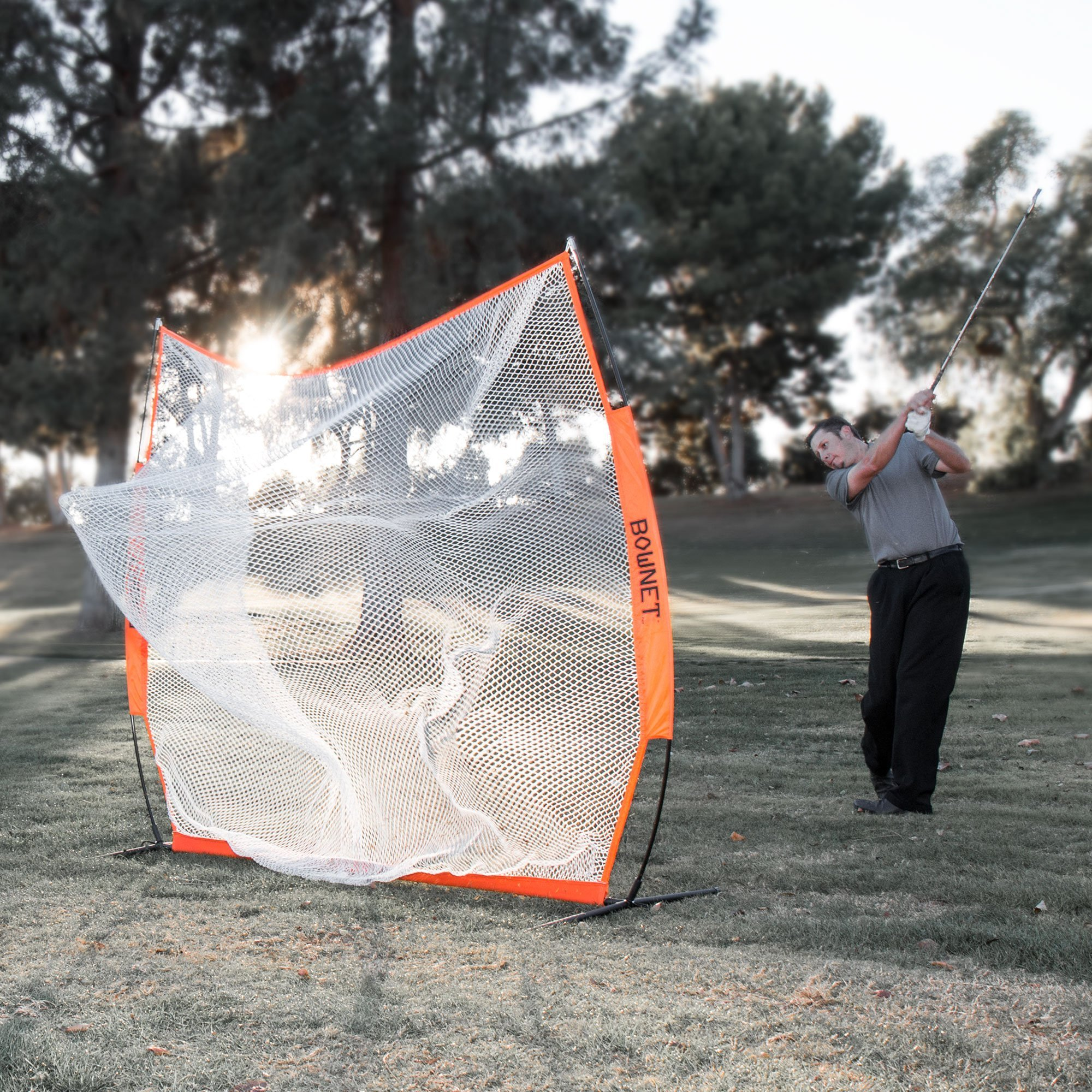 Bownet 7' x 7' Portable Golf Hitting Practice Net (Net Only)