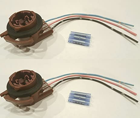 muzzys set of two wire harness pigtail light socket repair kit replaces gm