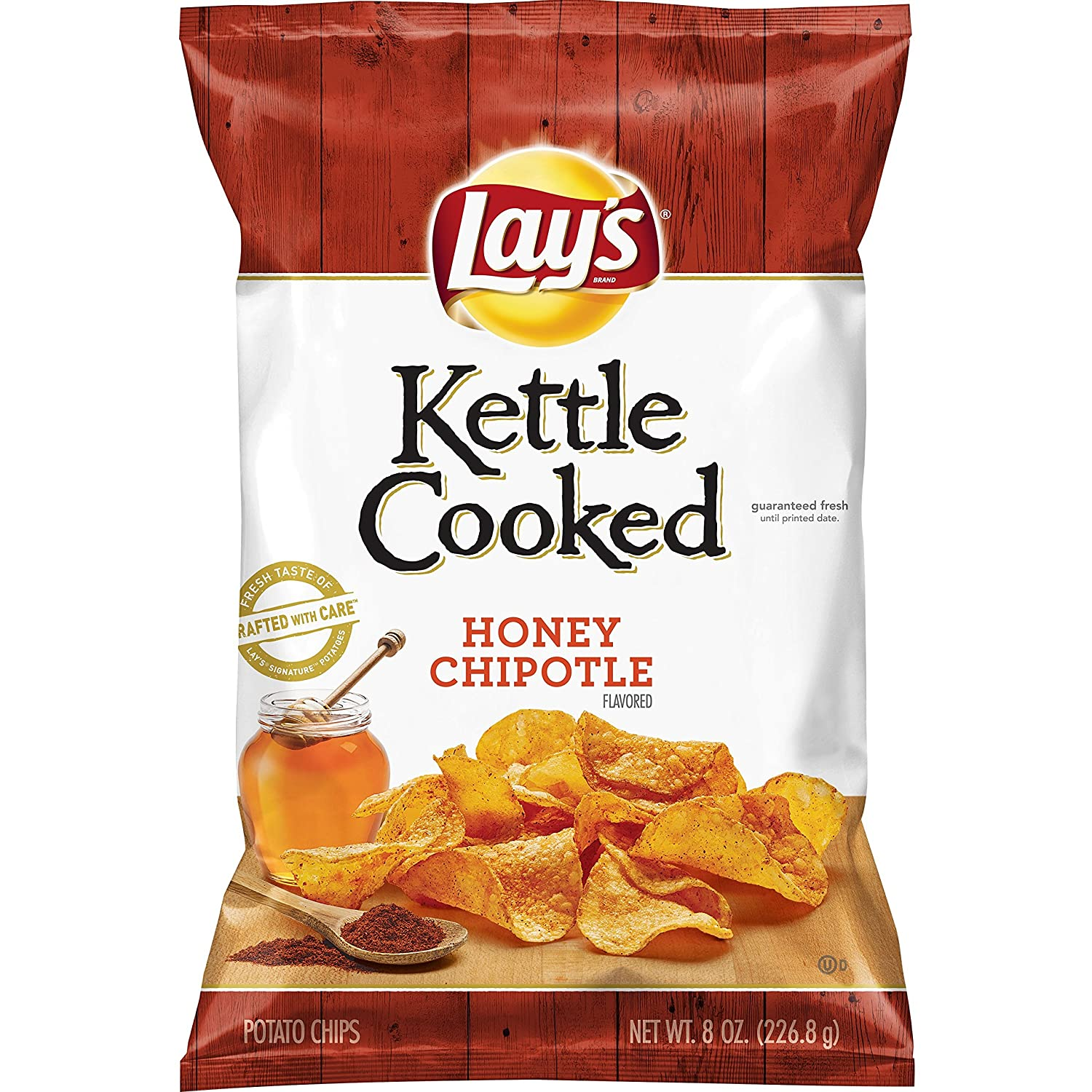 Lay's Kettle Cooked Honey Chipotle Flavored Potato Chips, 8 Ounce