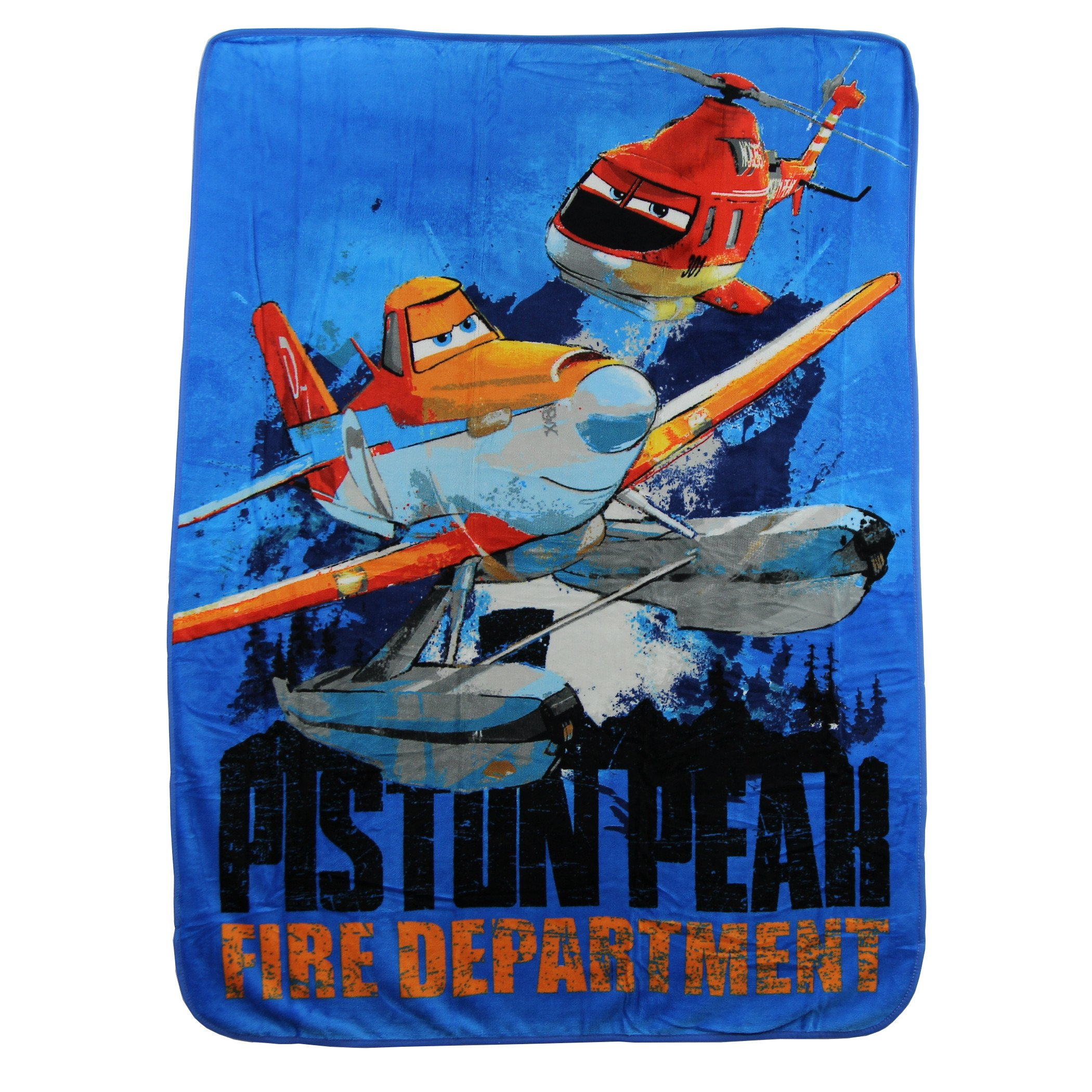 The Northwest Company Kids Super Plush Sherpa Throw Blanket, 46x50-Inch (Planes Piston Peak)
