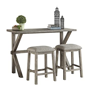 Awesome Lexicon 3 Piece Counter Height Dinette Set Gray Ibusinesslaw Wood Chair Design Ideas Ibusinesslaworg