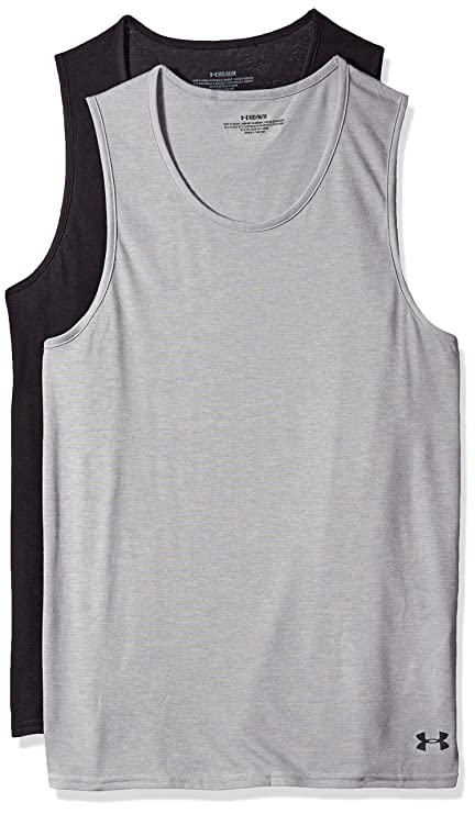 75a7607f3ac03 Amazon.com  Under Armour Men s Core Tank Undershirt – 2-Pack  Sports ...