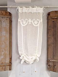 visillo para ventana cortina corta de ventana vintage rstico shabby chic bordado x