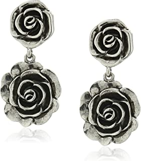 product image for 1928 Jewelry Silver-Tone Flower Drop Earrings