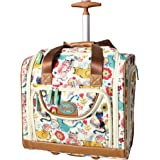 Lily Bloom Under the Seat Design Pattern Carry on Bag With Wheels