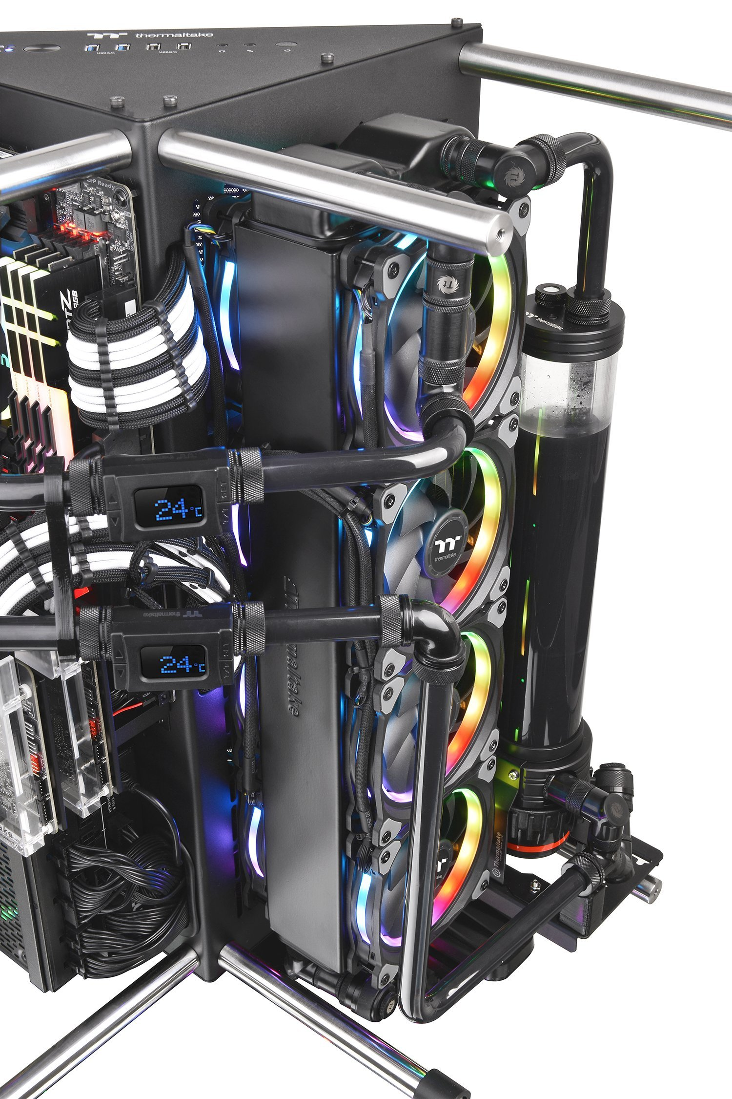 Thermaltake Core P90 Tempered Glass Black Atx Mid Tower Open Frame Us 18900 From Amazon