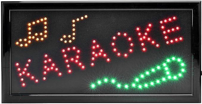 Karaoke rótulo luminoso XXL Anuncio Publicidad LED Cartel ...