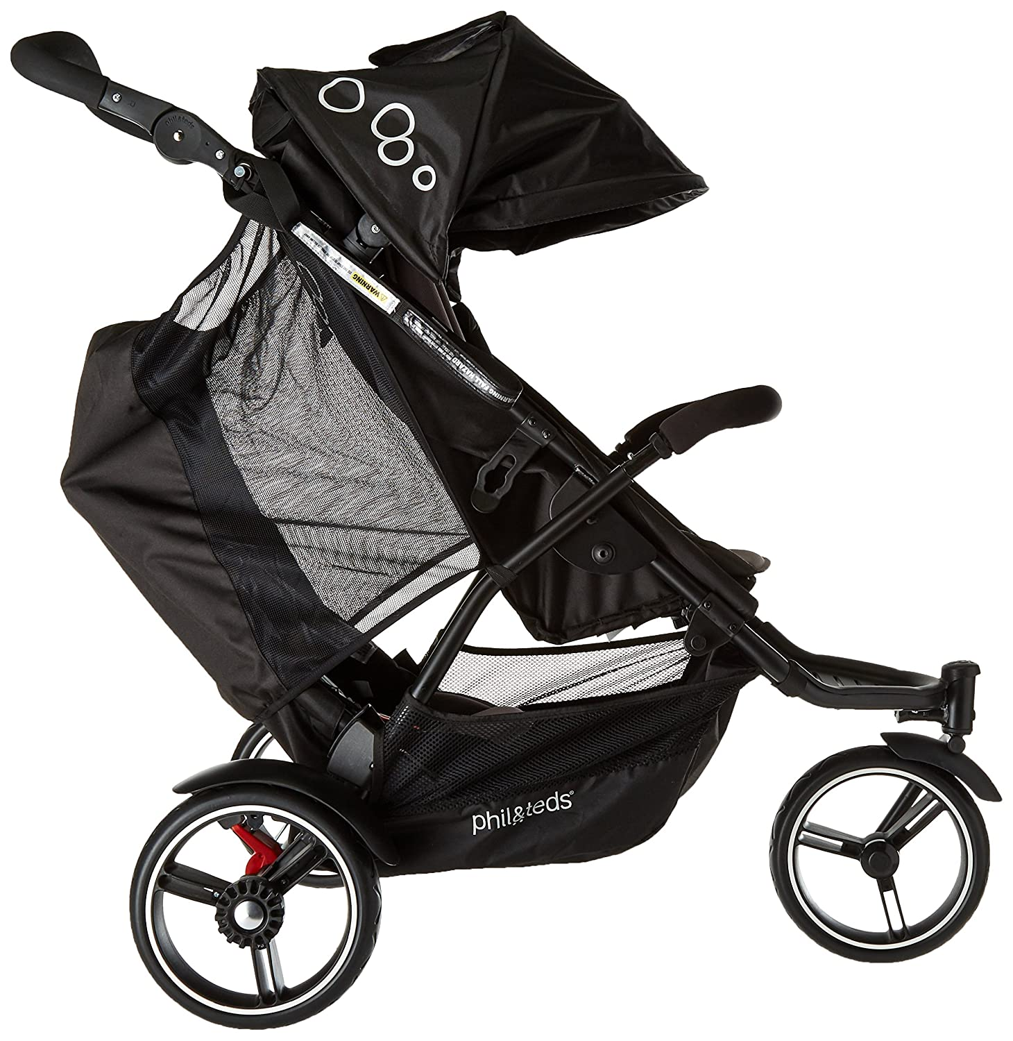 Compact Frame with Full Size Seat Compact Newborn Ready phil/&teds Dot Compact Inline City Stroller with Double Kit Puncture Proof Tires One Hand Fold Parent Facing Seat Included Graphite