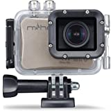 """Miho SDV-8560Q 4K UHD Waterproof WiFi Sports Action Camera w/ Sony Sensor 2.0"""" HD LCD Wide Angle Lens App Remote Control Driving Mode – Champagne Gold - 1-Year Warranty"""