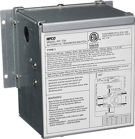 Amazon Com Wfco T30wm 30 Amp Transfer Switch Automotive