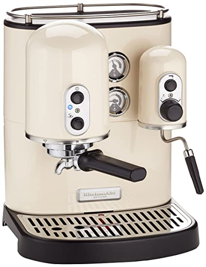 KitchenAid Artisan - Cafetera, 1300 W, 220-240 V, 30.7 x 38 x 40.1 cm, color crema: Amazon.es: Hogar