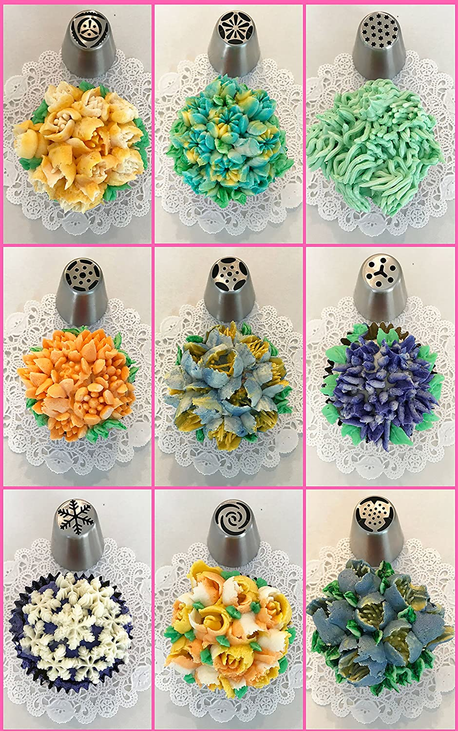 2 Leaf Tips 4 Couplers Decorate like a Pro with GoGo Pantry GoGo Sales 27 Large Russian Frosting Nozzles Cake Decorating Supplies 30 Pastry Bags 65 pc Russian Piping Tips Set 2 Ball Tips