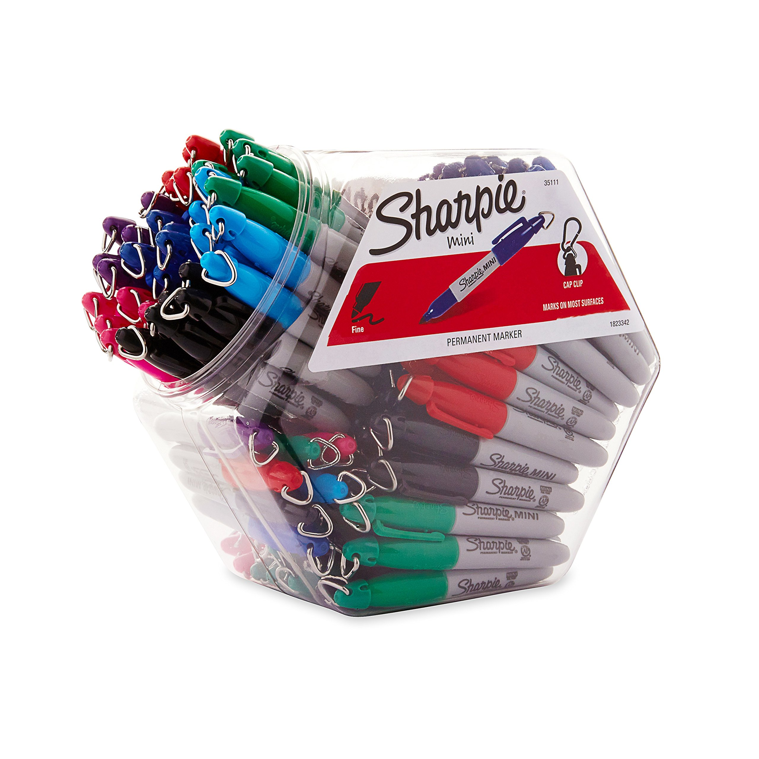 Sharpie Mini Permanent Markers,  Fine Point, Assorted Colors, 72-Count Canister