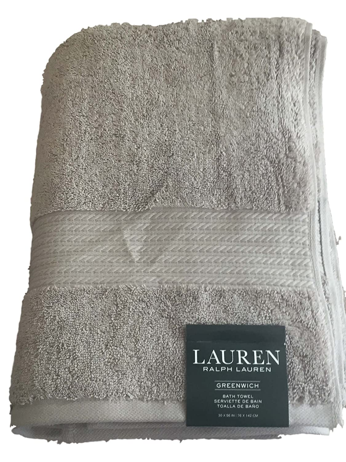Amazon.com: Lauren Ralph Lauren Greenwich Bath Towel Soft Grey: Home & Kitchen