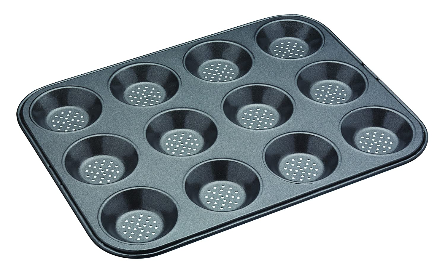 KitchenCraft MasterClass Crusty Bake Baking Tray/Mince Pie Tin, 12 Holes, Silver Kitchen Craft KCMCCB29