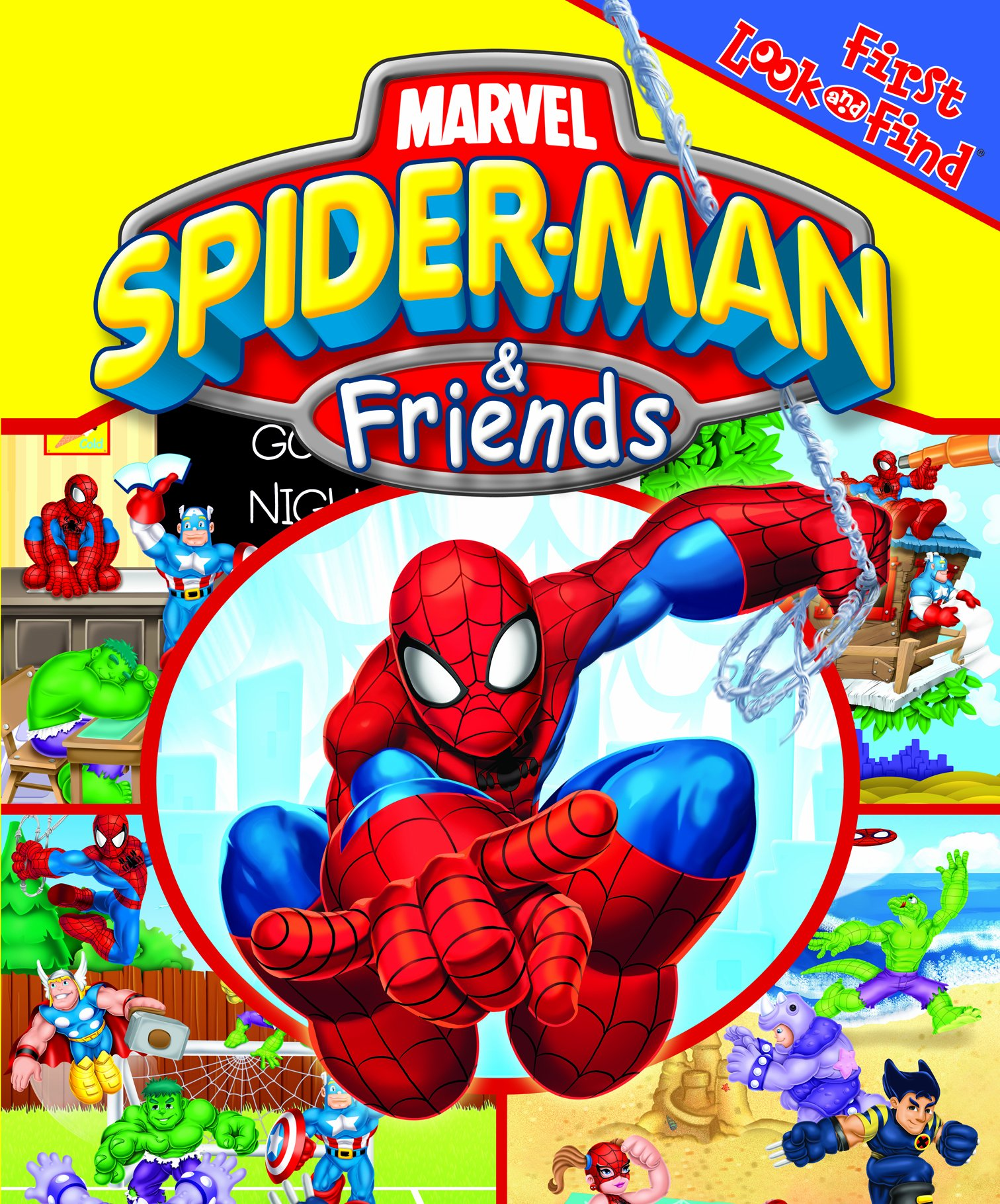 Spiderman and friends bedding - First Look And Find Marvel Spider Man Friends Editors Of Publications International Ltd 9781412777704 Amazon Com Books