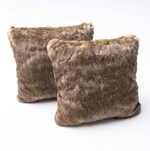 Christopher Knight Home 299802 Elise Fabric Pillows with Polyester Fiber Fill, 2-Pcs Set, Dark Brown