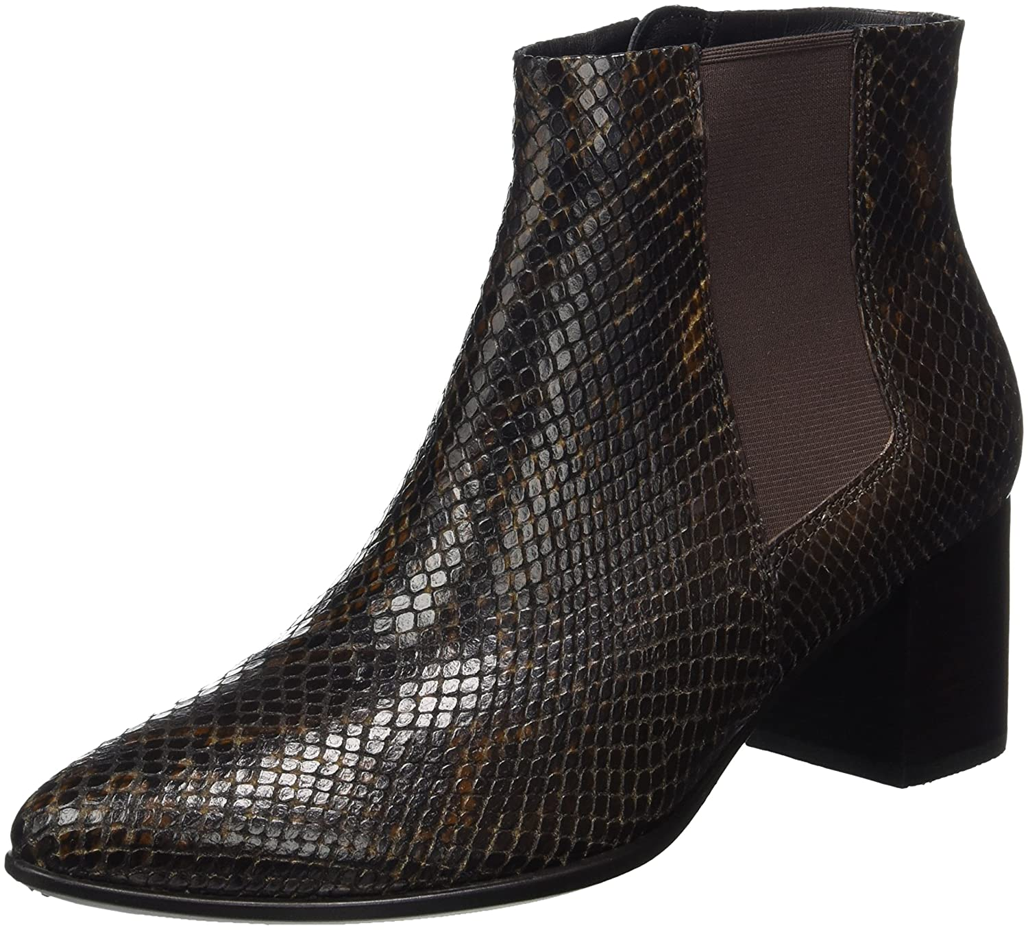 Ecco Shape 45 Pointy Block, Botas Chelsea para Mujer39 EU|Marrón (Coffee)