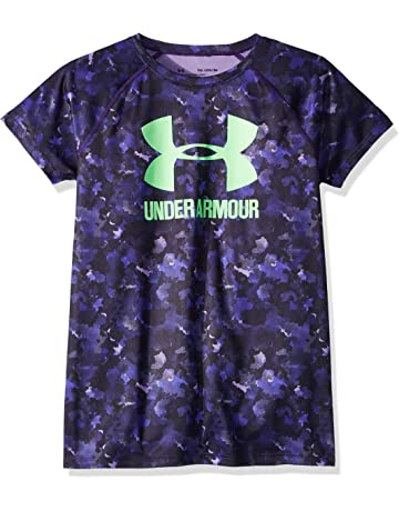 a37a9cfc Under Armour Girls' Big Logo Tee Novelty Short-Sleeve Shirt