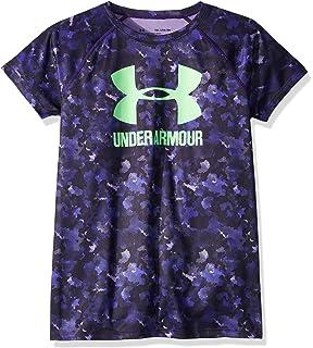 83186e0a0d54 Amazon.com  Under Armour Girls Solid Big Logo Short Sleeve T-Shirt ...