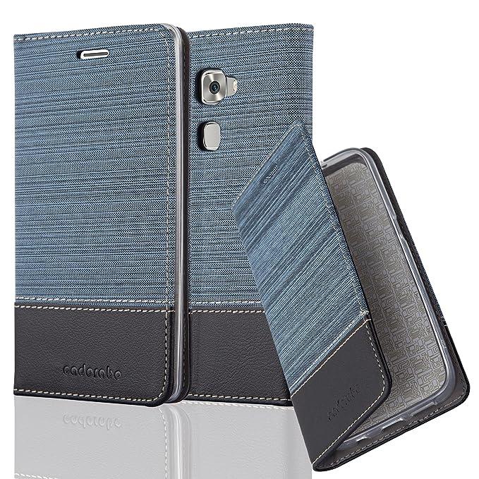 1 opinioni per Huawei MATE S Custodia di Libro di Finta-Pelle in AZZURRO SCURO NERO di Cadorabo