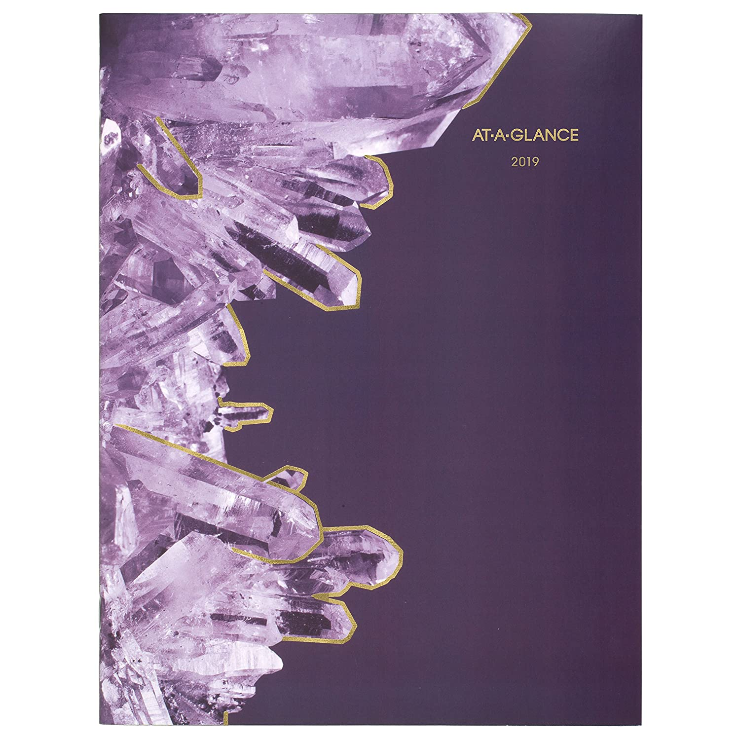 at-A-Glance Crystal Collection 2019 Weekly-Monthly Planner, 12 Month, Eng/Fr, Wire Bound, Poly Cover, Medium, 5 x 8 (1129-200F-19)
