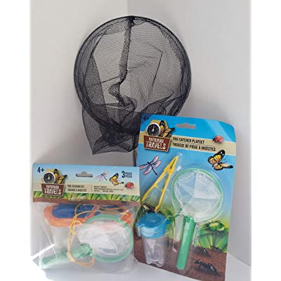 Explorer Kids Outdoor Camping Hiking Activity Bug Catcher Kit with Butterfly Net, Tweezers, Small Bug Container, Bucket with Magnifying Glass built in - Ages 4 Party Gift Fun Boys Girls Kit Bundle Set: Toys & Games