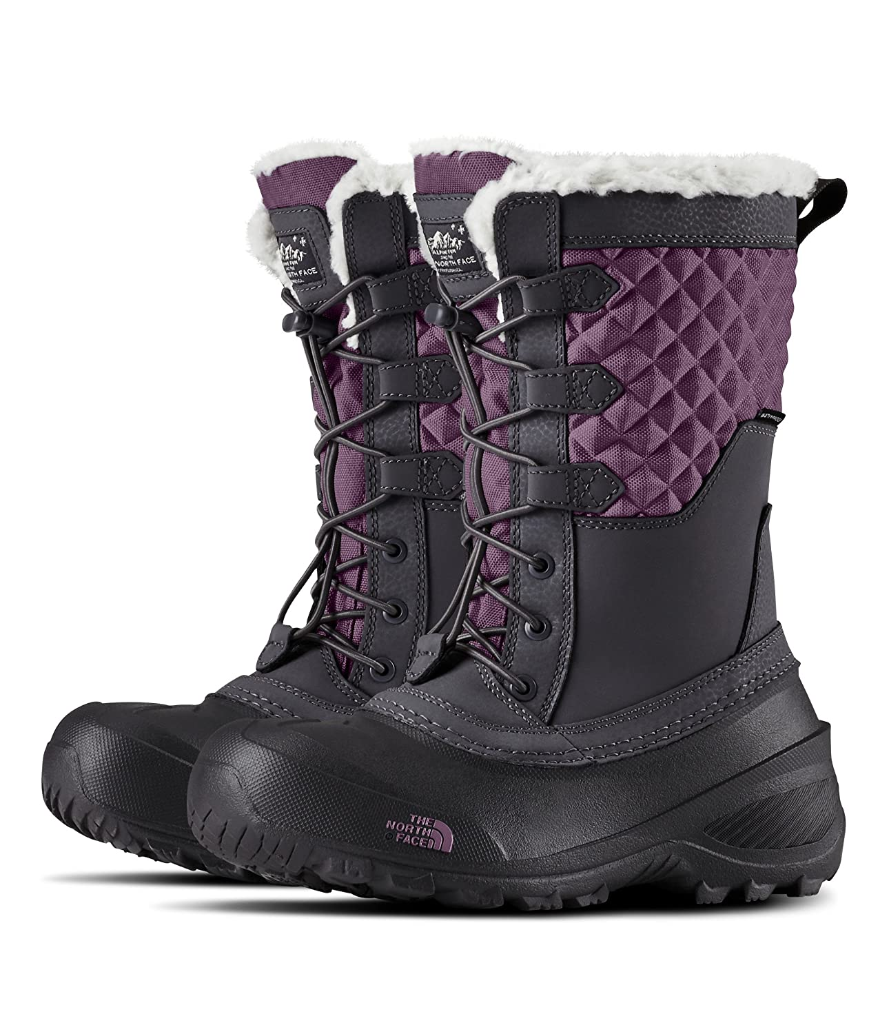 The North Face Youth Shellista Lace III Periscope Grey /& Purple Sage 10