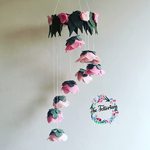 Rose spiral baby mobile felt hanging flower decoration amazon rose spiral baby mobile felt hanging flower decoration mightylinksfo
