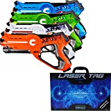 LEGACY Laser Tag Set for Kids, Extreme Pack (4 Blasters) - With Collectible Storage Case