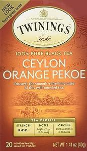 Twinings of London Ceylon Orange Pekoe Tea (Box of 20)