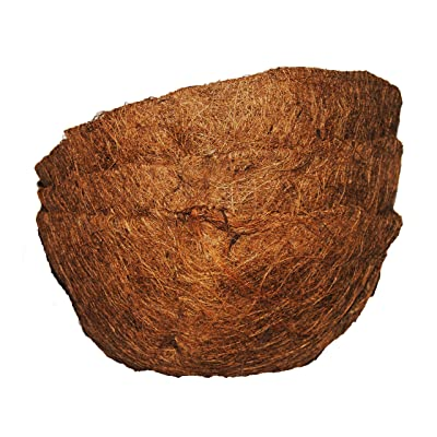 Basket Shaped Coco Fiber Replacement Liners 10 inch (3pk): Garden & Outdoor