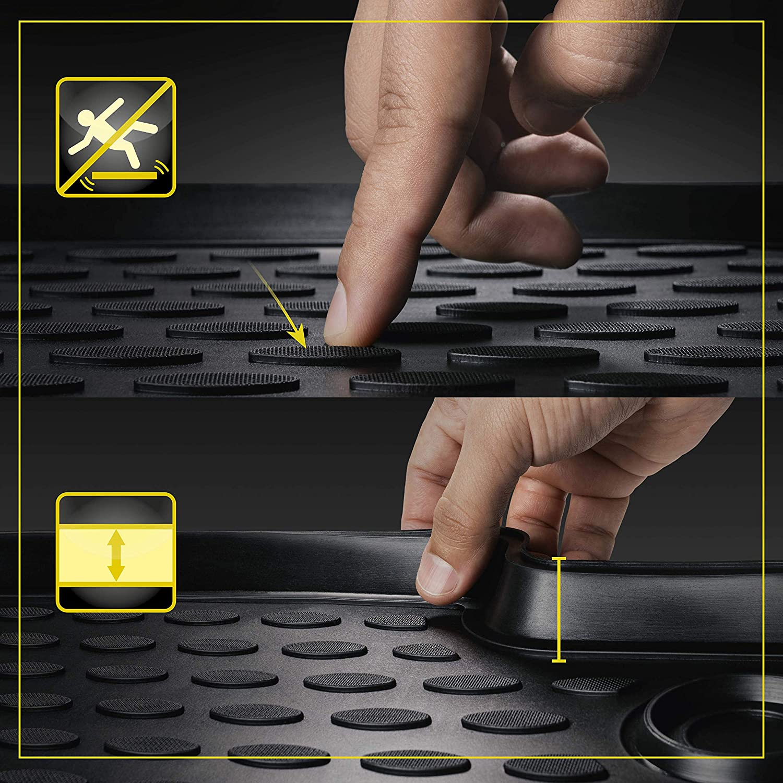 Walser XTR Tapetes de Goma Alfombrillas para Coche Compatible con Audi A6 C7 A/ño de fabricaci/ón 2011-09//2018