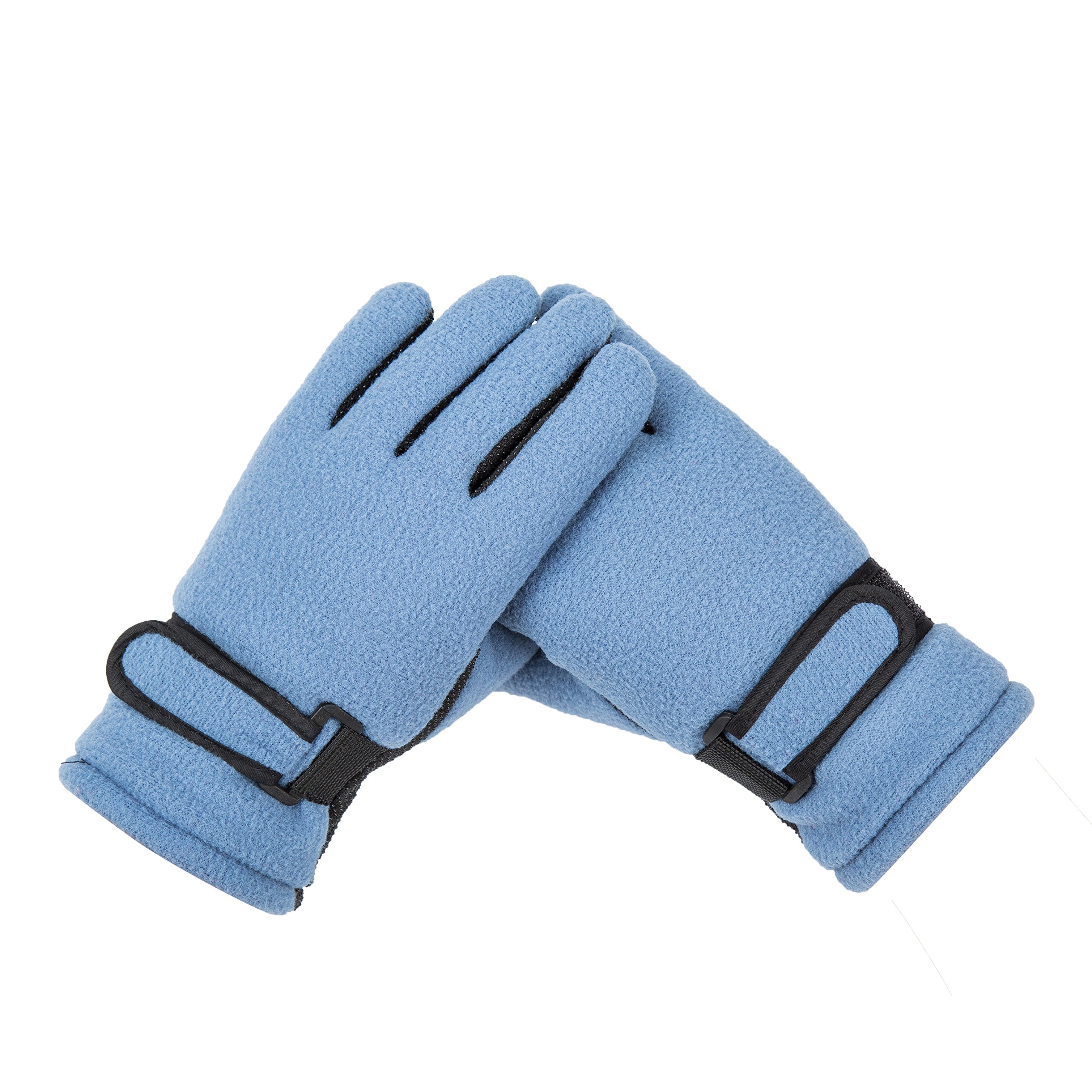 Blue Winter Gloves For Kids Boy Riding Running Ski Outdoor Sports