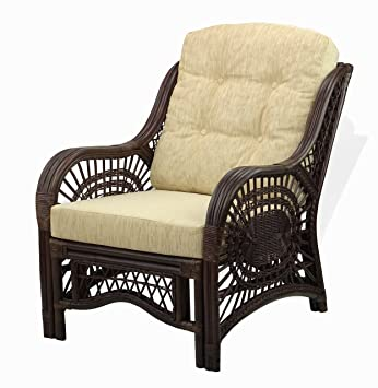 Amazon.com: Lounge Malibu sillón Eco de mimbre Natural hecho ...