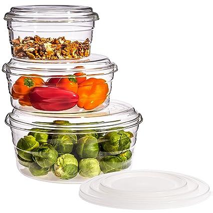 Trendglas Jena – Juego de 3 recipientes para el microondas Centric GP con tapa de cristal