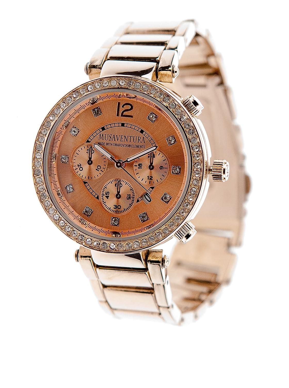 MUSAVENTURA   -Armbanduhr  Chronograph  Quarz Edelstahl REF 164_200