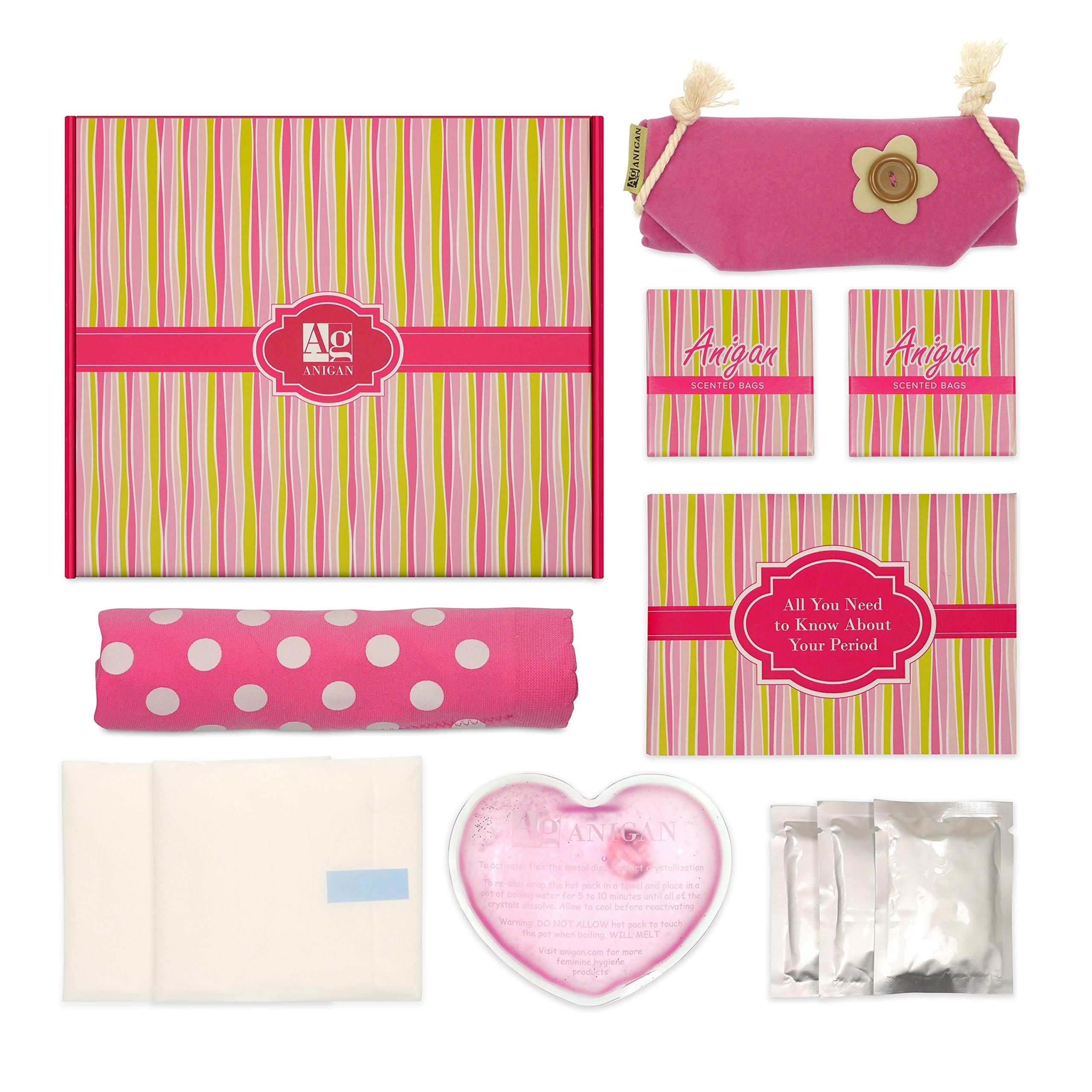 Anigan First Period Kit with Stylish Leakproof Bikini Menstrual Underwear - Medium by Anigan