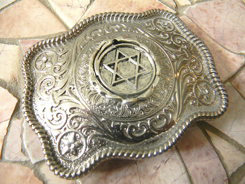 Jewish Gifts, Star of David Belt Buckle, Bar Mitzvah, Bat Mitzvah, Religious