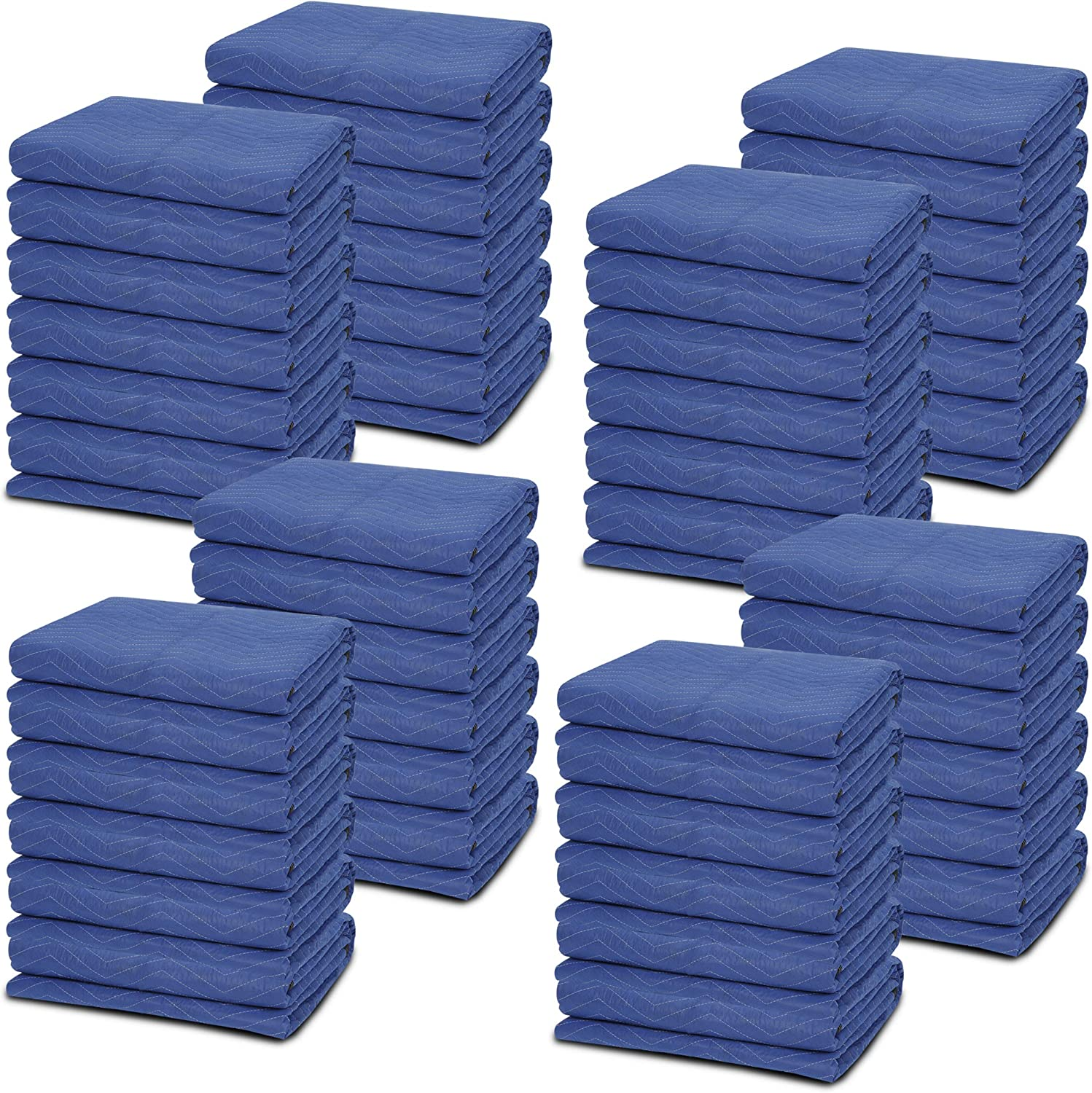 ZENY 48 Pack Moving Packing Blankets 80''x 72''(35 lb/dz Weight) Pro Quilted Shipping Furniture Pads Mover Moving Pads