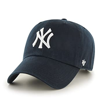 check out cbaa6 a13ae 47 Brand MLB New York Yankees Men s Home Clean Up Cap, Navy, One-